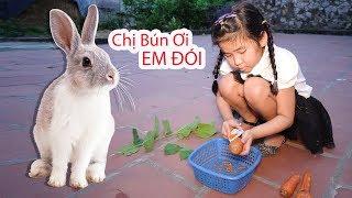 Cách Nhử Con Thỏ Trong Đống Gỗ ♥ Bé Bún – Bé Bắp ♥