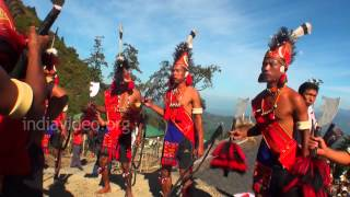 Tribal dance performed by Konyak tribe