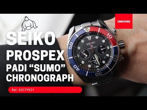 SEIKO PROSPEX SUMO PADI SOLAR WATCH PEPSI DIAL SSC795J1