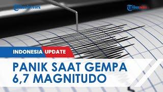 Detik-detik Warga yang Berhamburan saat Gempa Nias M 6,7 , BMKG Sebut Tidak Berpotensi Tsunami