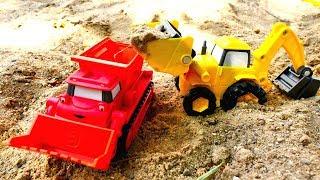 Машины -Помощники - Экскаватор, подъемный кран,  бульдозер