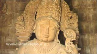Inside Chathurbhuja temple at Khajuraho