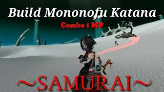 Toram Online ] Build Katana Level 110 & Test Damage / Combo