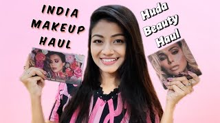 India Makeup Haul • মেকআপ শপিং • HUDA BEAUTY HAUL - Nykaa Haul from Kolkata India