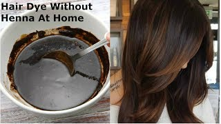 HOMEMADE Hair Dye(Without Heena)|How To Dye Hair(Brown)At Home With Home Ingredients