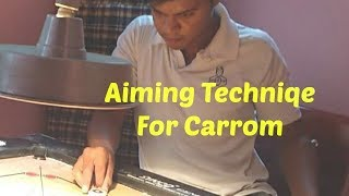 How to Aim in Carrom | Beginners | STRIKE & POCKET |