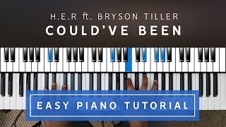 H.E.R. Ft. Bryson Tiller    Could've Been EASY PIANO TUTORIAL