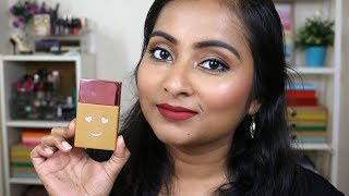 Benefit Hello Happy Soft Blur Foundation Review   Demo On Indian Brown Skin Tone   Dry Skin