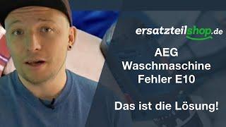 AEG Waschmaschine Fehler e10 - zieht kein Wasser