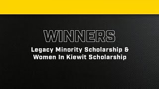 Kiewit Scholarship Winners