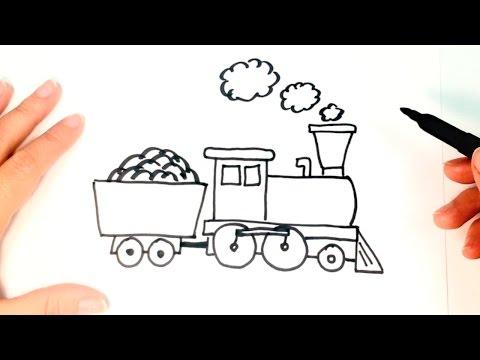 C Mo Dibujar Un Tren O Locomotora Paso A Paso Dibujo F Cil De Tren O