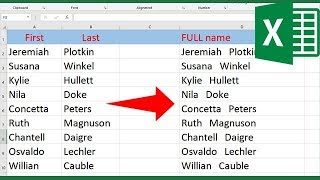 How to merge two columns in Excel without losing data
