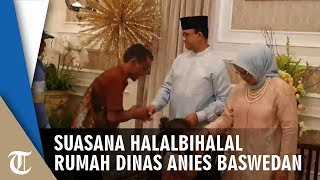 Melihat Halal bihalal Lebaran di Rumah Dinas Gubernur Anies Baswedan