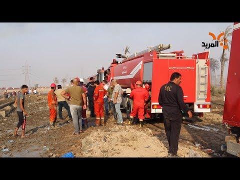 شاهد بالفيديو.. الدفاع المدني توضح للمربد حريق الهارثة في البصرة #المربد