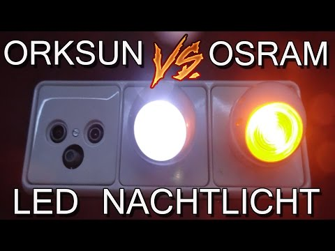 """""""ORKSUN VS OSRAM LED NACHTLICHT"""" -Vergleich 2,25 gegen 7 Euro"""
