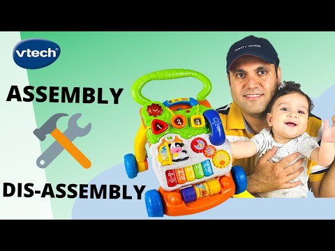 Vtech Sit To Stand Learning Walker: Assembly | Dismantle | Review [FAST!]