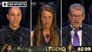 """Gigi was the future, and Kobe knew it"" | Ionescu, Taurasi, Auriemma speak at Bryant Memorial"