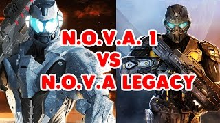 N.O.V.A 1 VS N.O.V.A LEGACY - COMPARISON (GAMEPLAY and GRAPHICS)