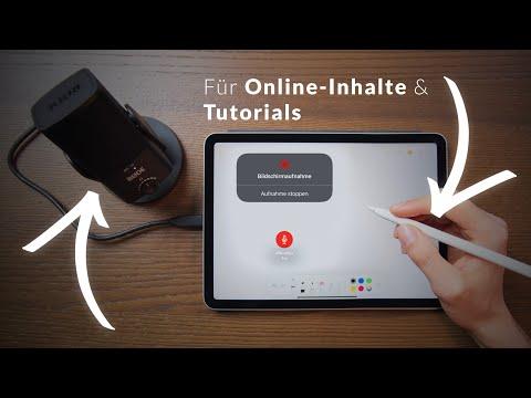 Bildschirmaufnahme mit Audio am iPad – Online Inhalte und Tutorials mit Screenrecording