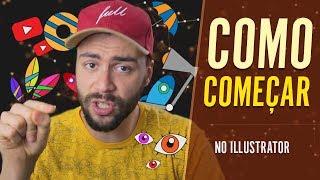 Como COMEÇAR No Illustrator | Tutorial Illustrator