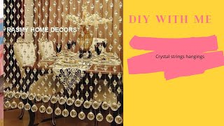 DIY Crystal Beads Curtain/ How To Make Beads Curtain At Home