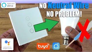 Smart WiFi Light Switch HACK - NO NEUTRAL WIRE, NO PROBLEM