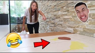 STRANGERS DOG LEFT THIS IN OUR HOUSE! **PRANK**