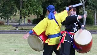 """Okinawa's traditional performing art: Eisa """"Bu no Mai"""" by Ryukyukoku Matsuri Daiko Fukui"""