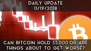 Daily Daily Update (11/18/18) | Can Bitcoin Hold Support At $5,000?