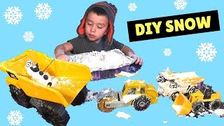 How To Make Homemade Snow Two ingredients Easy Sensory Activities For Toddlers Kids