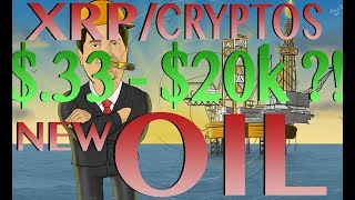 XRP 20k Explained - XRP/Cryptos the New Oil?! - Oil for the Internet of Value - $.33 - $20k ??!