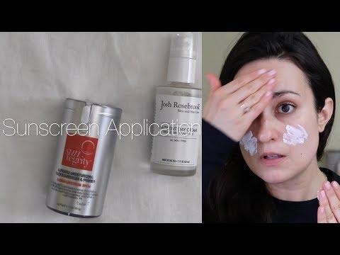 Sunscreen Application Demo // Josh Rosebrook SPF 30 Nutrient Day Cream & Suntegrity SPF 30