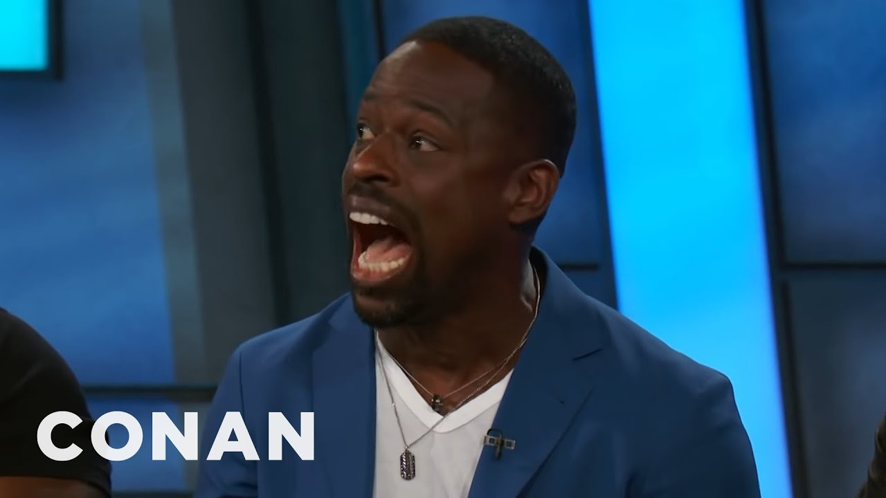 "Sterling K. Brown Does ""Get To The Choppa!"""
