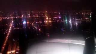 preview picture of video 'Rainy Night Landing at Shanghai Hongqiao International Airport (SHA) / RW36R, Right Side View'