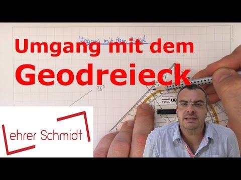 Geodreieck - Umgang mit dem Geodreieck | Geometrie | Mathematik | Lehrerschmidt