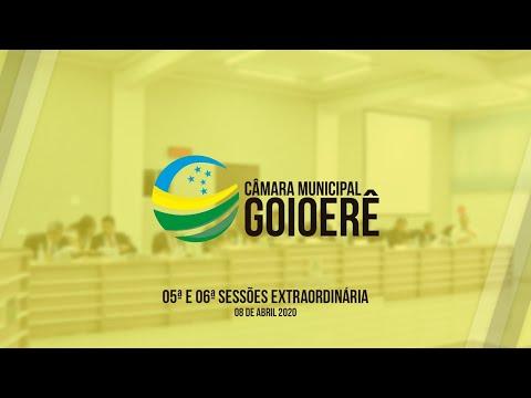 05ª e 06ª Sessão Extraordinária | 2020