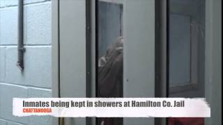 Hamilton County Jail keeping inmates in shower stalls - overcrowding