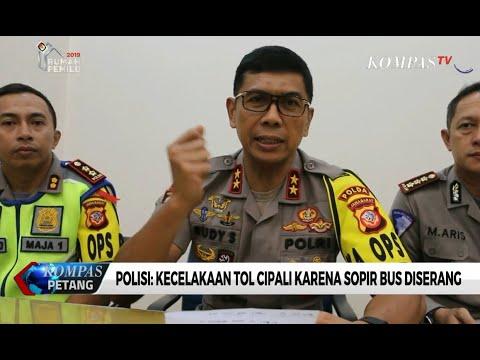 Polisi: Kecelakaan Tol Cipali Karena Sopir Bus Diserang