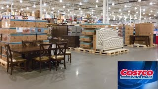 COSTCO FURNITURE KITCHEN TABLES CHAIRS BEDS HOME DECOR SHOP WITH ME SHOPPING STORE WALK THROUGH 4K