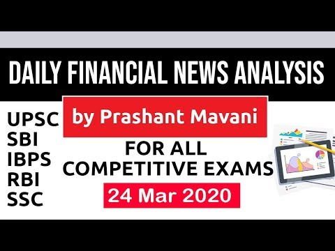Daily Financial News Analysis in Hindi - 24 March 2020 - Financial Current Affairs for All Exams