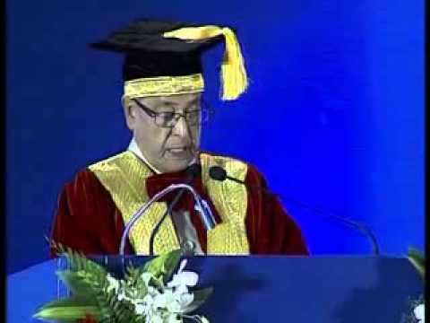 DDNewsOfficial: The President of India, Pranab Mukherjee while presenting a degree to the student at the Convocation of Indian Maritime University at Chennai Trade Centre at Chennai in Tamil Nadu on February 22, 2014.   Uploaded by DD News on Feb 22, 2014
