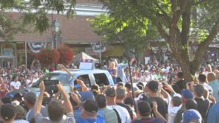 Tom Glavine Hall of Fame Parade 2014 Cooperstown