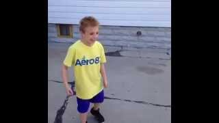 Kid gets hit with a basketball