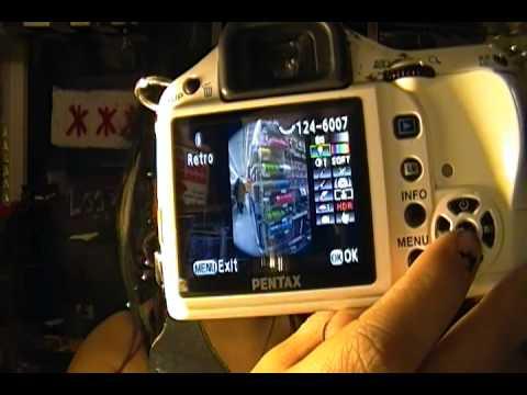 Pentax KX DSLR (white) camera review
