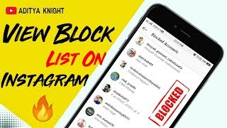 How To View Or See Blocked List in Instagram | How To find Blocked Users on Instagram | AdityaKnight