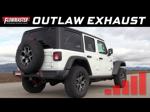 2018-19 Jeep Wrangler JL 2.0L, 3.6L - Outlaw Axle-back Exhaust Systems 817803 & 817840