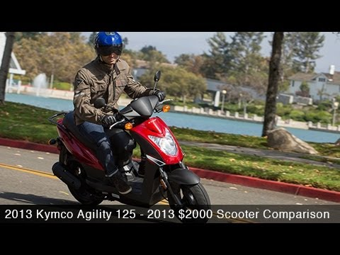 2013 Kymco Agility 125 Scooter Comparison