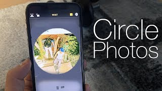 How To Crop A Photo Into A Circle IPhone