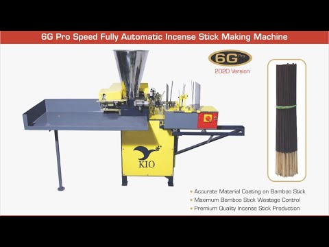 KIO 6G Pro Speed Fully Automatic Incense Stick Making Machine