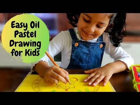 Easy Oil Pastel Drawing for Kids | Ganesha Drawing | Oil Pastel Art for Kids | #10